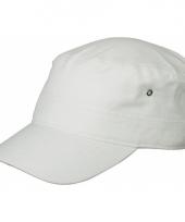 Witte rebel militairy cap
