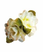 Witte roos haarclip