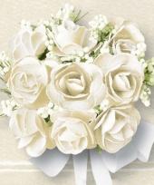 Witte rozen print servetten 20 stuks