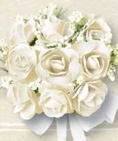Witte rozen print servetten 40 stuks