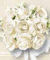 Witte rozen print servetten 60 stuks