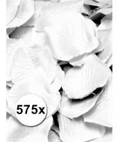 Witte rozenblaadjes van stof 575 st