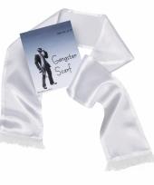 Witte sjaal met kwastjes voor heren