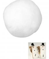 Witte sneeuwbal 3 8 cm van acryl