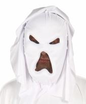 Witte spoken carnavalsmasker
