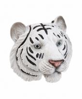 Witte tijger koelkast magneet 3d van 8cm