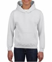 Witte trui met capuchon voor jongens