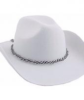 Witte western hoed