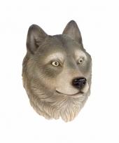 Wolf koelkast magneet 3d van 8cm