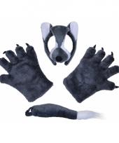 Wolfsetje met masker pluche