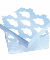 Wolken servetten 25 x 25 cm