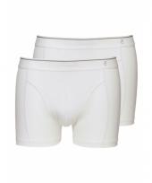 Zacht katoenen heren shorts set wit