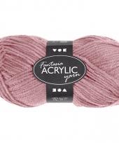 Zacht roze acryl 3 draads garen 80 meter