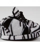 Zachte baby slofjes zebra zwart wit