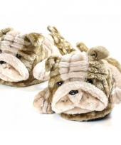 Zachte dieren pantoffels bulldog 10059314