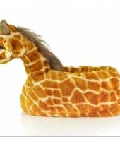 Zachte dieren pantoffels giraffe 10059320