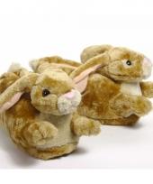 Zachte dieren pantoffels konijn 10059310