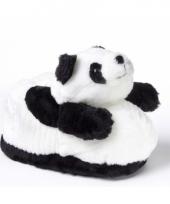 Zachte dieren pantoffels panda