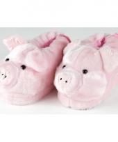 Zachte dieren pantoffels varken