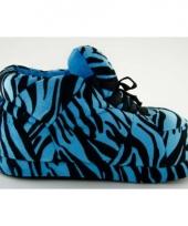 Zachte sloffen voor dames tijger blauw