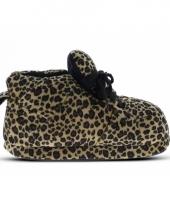 Zachte sloffen voor meisjes luipaard bruin