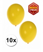 Zakje 10 gele party ballonnen