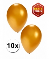 Zakje 10 gouden party ballonnen
