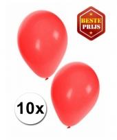 Zakje 10 rode party ballonnen