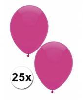 Zakje 25 donker roze party ballonnen