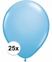Zakje 25 lichtblauwe party ballonnen