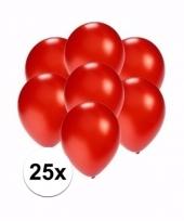 Zakje 25 metallic rode party ballonnen klein