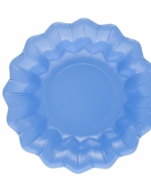 Zee blauwe kartonnen bakjes 24 cm