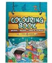 Zeedieren thema a4 kleurboek tekenboek 24 paginas
