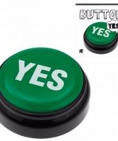 Zeg ja knop groene yes buzzer