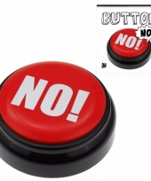 Zeg nee knop rode no buzzer