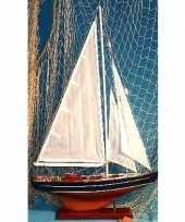 Zeilboot miniatuur model schip van hout 65 cm