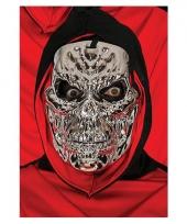 Zilver skeletten masker voor halloween feest
