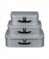 Zilver vintage koffertje 25 cm 10090164