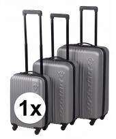 Zilveren dunlop bagage trolley 65 cm