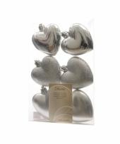 Zilveren hartjes voor in de kerstboom