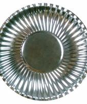 Zilveren kartonnen borden 29 cm