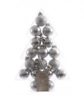 Zilveren kerstversiering kerstballen