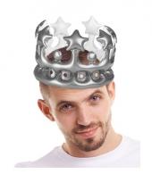 Zilveren kroon opblaasbaar