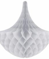 Zilveren kroonluchter versiering 45 cm