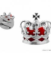 Zilveren kroontje haarclip