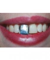 Zilveren nep tand accessoire