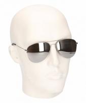 Zilveren piloten zonnebrillen model 5716