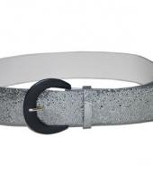 Zilveren riem glitter 110 cm