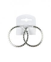 Zilveren ronde oorbellen 5 5 cm