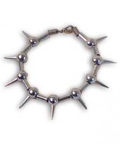 Zilverkleurig armbandje met spikes